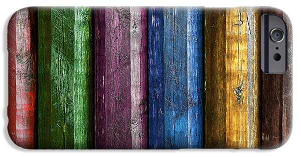 Furniture Photographs iPhone Cases - Colorful poles  iPhone Case by Carlos Caetano