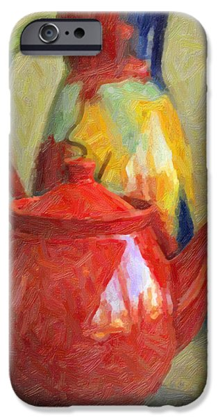Colorful Pottery iPhone Case by Kenny Francis