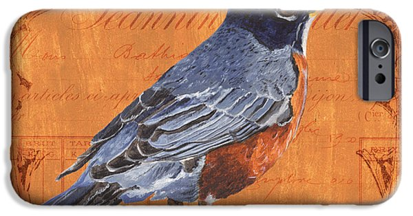 Flight Paintings iPhone Cases - Colorful Songbirds 2 iPhone Case by Debbie DeWitt