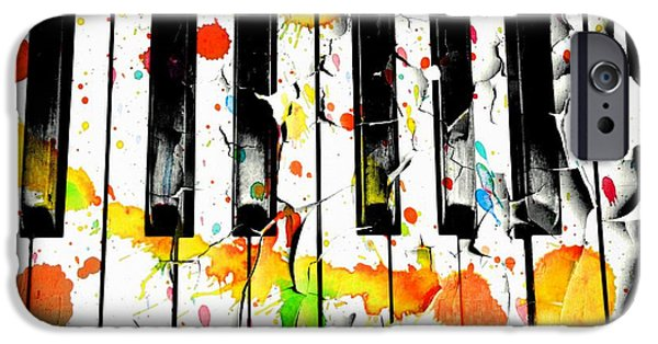Piano iPhone Cases - Colorful Sound iPhone Case by Aaron Berg