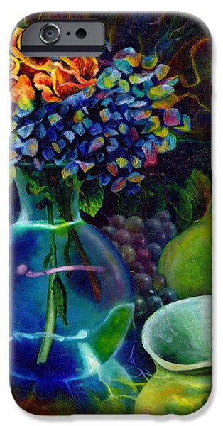 Metaphysical Paintings iPhone Cases - Colorful Still Life iPhone Case by Kd Neeley