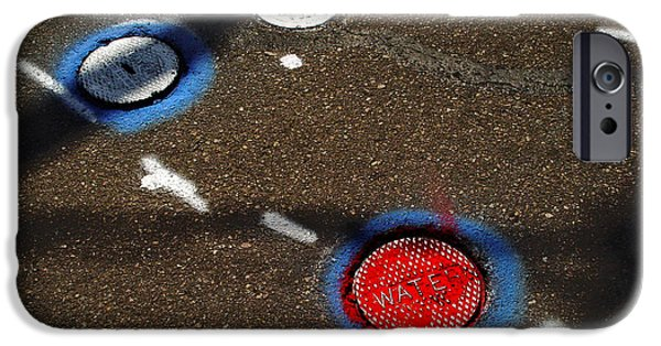 Drain iPhone Cases - Colorful Storm Drain Covers And White iPhone Case by Panoramic Images