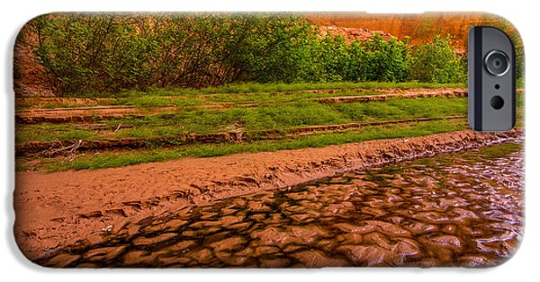 Holes In Sandstone iPhone Cases - Colorful Streambed - Coyote Gulch - Utah iPhone Case by Gary Whitton