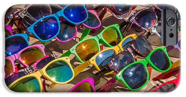 Owner Photographs iPhone Cases - Colorful Sunglasses iPhone Case by Iris Richardson