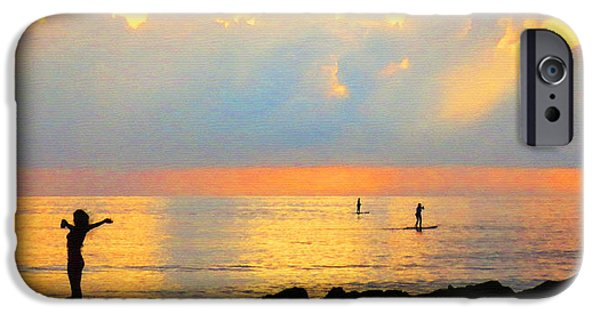 Ocean Sunset Photographs iPhone Cases - Colorful Sunset Art - Embracing Life - By Sharon Cummings iPhone Case by Sharon Cummings