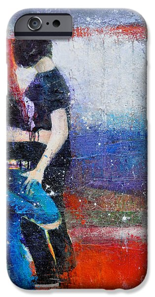 Colorful Teen Together For Ever  iPhone Case by Johane Amirault