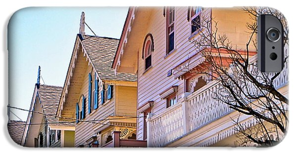 Recently Sold -  - Haunted House iPhone Cases - Colorful Victorian Houses iPhone Case by Cape May Graphics