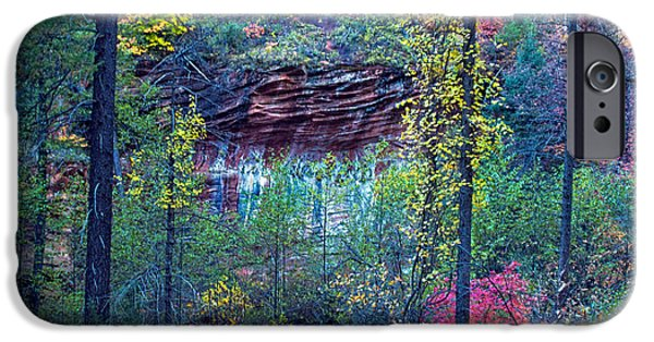 West Fork iPhone Cases - Colorful Wall iPhone Case by Brian Lambert