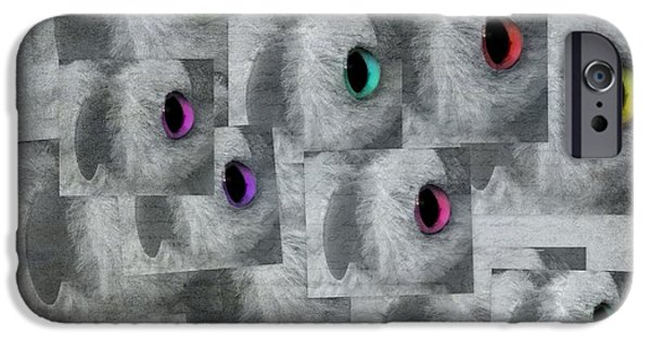 Model iPhone Cases - Colorful Windows To The Soul iPhone Case by Renee Trenholm