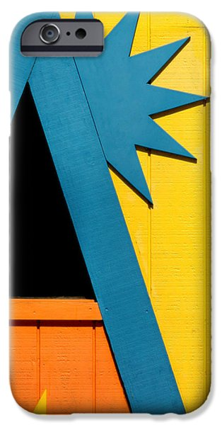 Santa Cruz Art iPhone Cases - Colors and Shapes iPhone Case by Art Block Collections