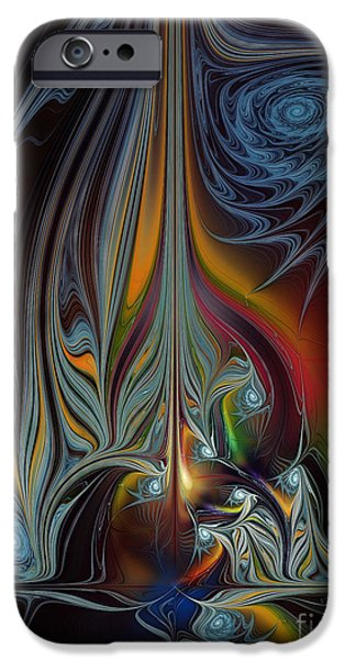 Abstract Expressionism iPhone Cases - Colors in Motion-Fractal Art iPhone Case by Karin Kuhlmann