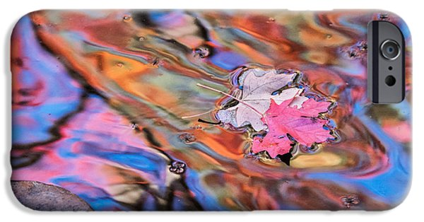 West Fork iPhone Cases - Colors on Oak Creek in Sedona iPhone Case by Marianne Jensen