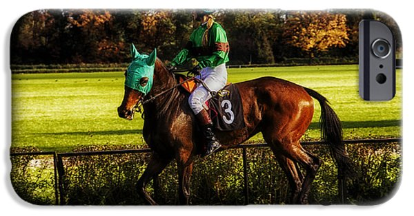 Horse Racing iPhone Cases - Colors of a Warrior iPhone Case by Mountain Dreams