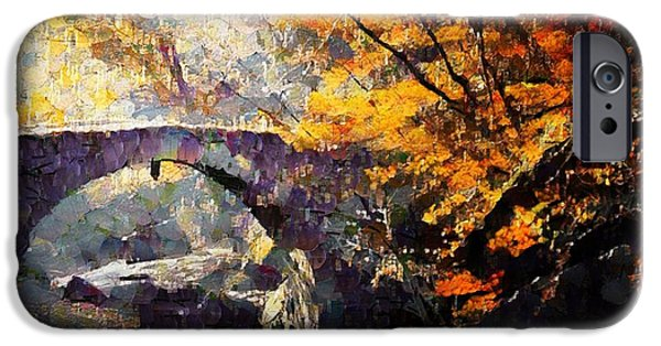 Reflections In Water iPhone Cases - Colors of Autumn iPhone Case by Gun Legler