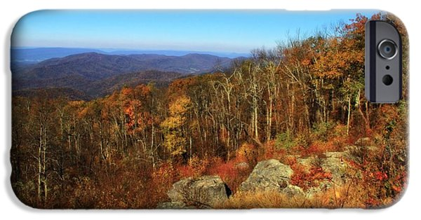 Colors Of Autumn iPhone Cases - Colors Of Autumn In Shenandoah National Park iPhone Case by Dan Sproul