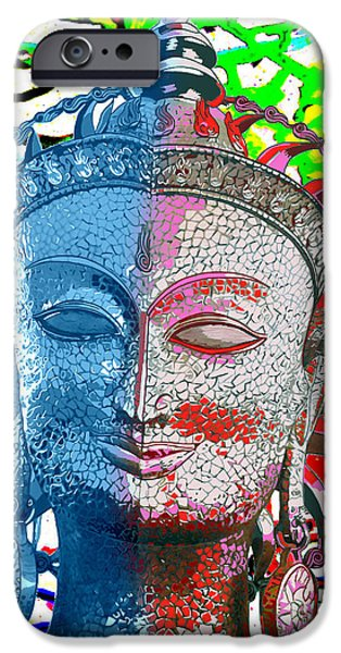 Miracle iPhone Cases - Colors of divinity iPhone Case by Karunita Kapoor