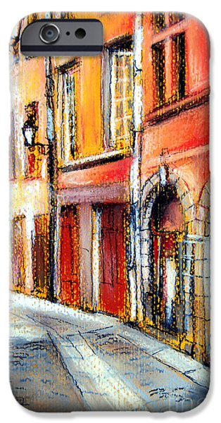 Facade Pastels iPhone Cases - Colors Of Lyon 3 iPhone Case by Mona Edulesco