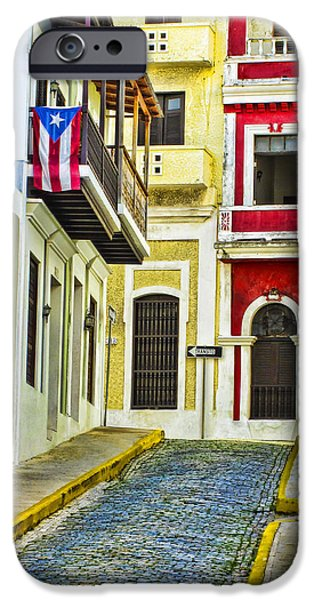 House iPhone Cases - Colors of Old San Juan Puerto Rico iPhone Case by Carter Jones