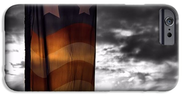 Fourth Of July iPhone Cases - Colors Of Our Flag At Sunset iPhone Case by Dan Sproul
