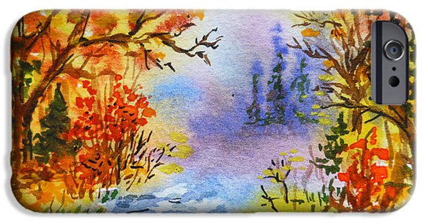 Russia Paintings iPhone Cases - Colors Of Russia Autumn  iPhone Case by Irina Sztukowski
