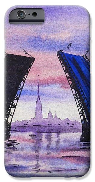 Colors Of Russia Bridges of Saint Petersburg iPhone Case by Irina Sztukowski