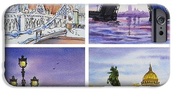 Russia Paintings iPhone Cases - Colors Of Russia Saint Petersburg iPhone Case by Irina Sztukowski