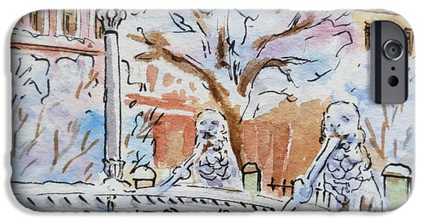Russia Paintings iPhone Cases - Colors Of Russia Winter in Saint Petersburg iPhone Case by Irina Sztukowski