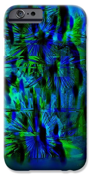 Abstract Digital iPhone Cases - Colors Of The Night iPhone Case by Georgiana Romanovna