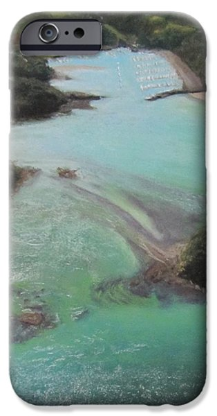 Marine Pastels iPhone Cases - Colors of Tutukaka iPhone Case by Serena Dawson