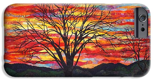 Sunset Tapestries - Textiles iPhone Cases - Colors of Winter iPhone Case by Lenore Crawford