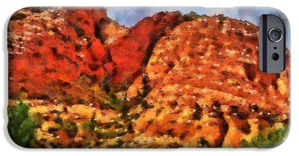 Red Rock Mixed Media iPhone Cases - Colors Of Zion iPhone Case by Dan Sproul
