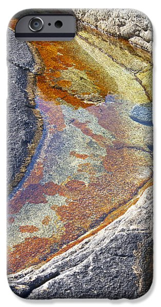 Colors on rock iPhone Case by Heiko Koehrer-Wagner