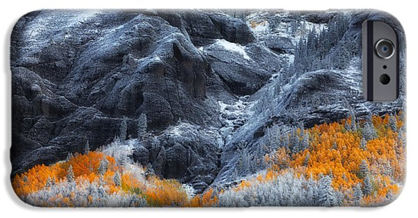 Snow iPhone Cases - Colors on the Hill iPhone Case by Darren  White