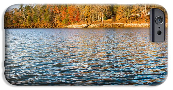 Log Cabin Photographs iPhone Cases - Colors on the Lake iPhone Case by Parker Cunningham