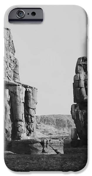 COLOSSES of THEBES - 1851 iPhone Case by Daniel Hagerman