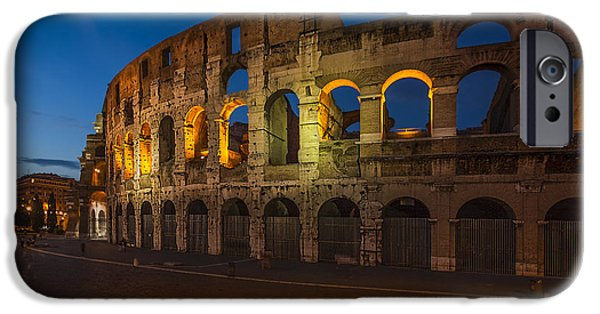 Recently Sold -  - Ruin iPhone Cases - Colosseum iPhone Case by Erik Brede