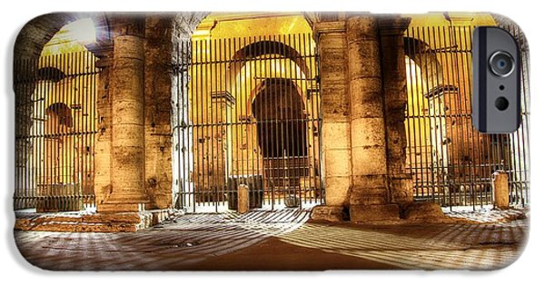 Built Structure iPhone Cases - Colosseum Lights iPhone Case by Stefano Senise