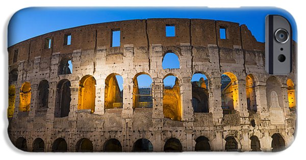 Open Air Theater iPhone Cases - Colosseum  iPhone Case by Mats Silvan