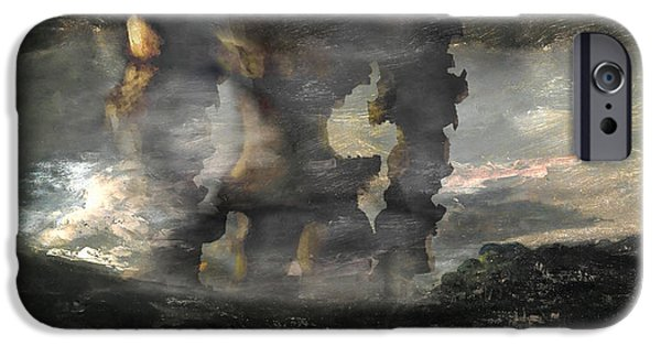 The Horse iPhone Cases - Colossus iPhone Case by Guillaume Colomb