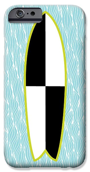 Board iPhone Cases - Colour Block Surfboard iPhone Case by Susan Claire