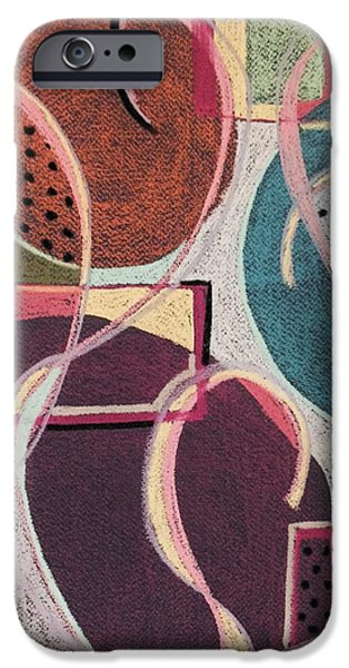 Organic Pastels iPhone Cases - Colour Play I iPhone Case by Cristel Mol-Dellepoort