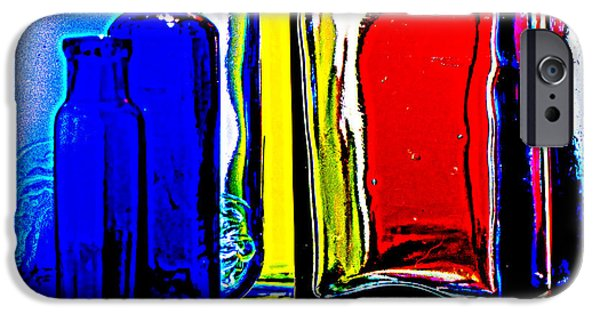 Shape Glass iPhone Cases - Coloured glass  iPhone Case by Malcolm Bumstead