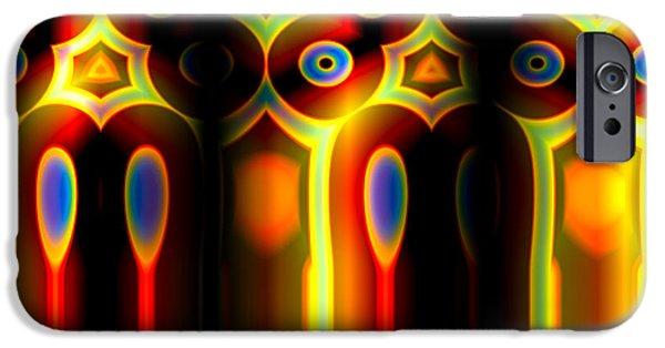 Mathematical Design iPhone Cases - Colourful Aztec Pillats iPhone Case by Hakon Soreide
