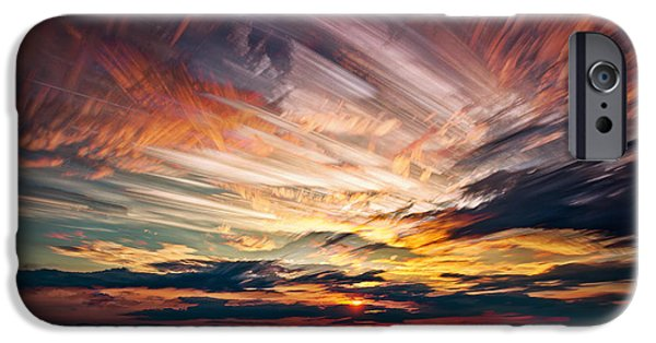 Quebec iPhone Cases - Colourful Cloud Collision iPhone Case by Matt Molloy