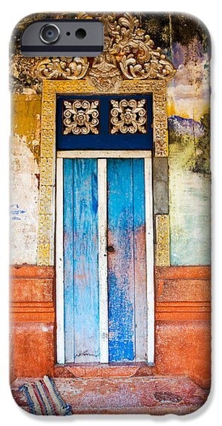 Vivid iPhone Cases - Colourful Door iPhone Case by Dave Bowman