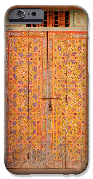 Colourful Entrance Door Sale Rabat Morocco iPhone Case by Ralph A  Ledergerber-Photography