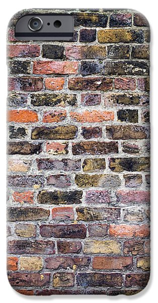 Colourful London Brick Wall iPhone Case by Tim Gainey