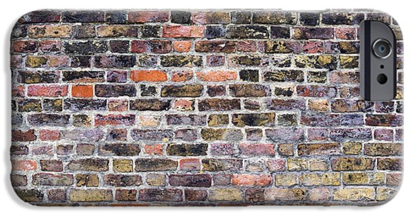 Alga Photographs iPhone Cases - Colourful London Brick Wall iPhone Case by Tim Gainey