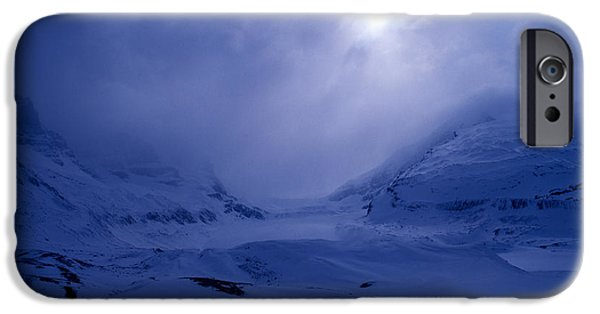 Wintertime iPhone Cases - Columbia Icefields In Wintertime iPhone Case by Terry Elniski