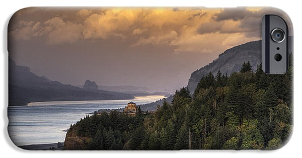 October iPhone Cases - Columbia River Gorge Vista iPhone Case by Mark Kiver